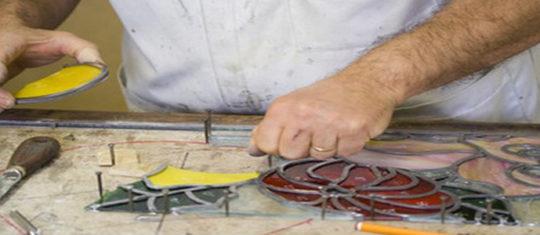 fabrication d'un vitrail